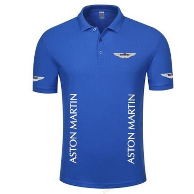 Women and men's style short sleeve soild color cotton Aston Martin   POLO   shirts S-3XL plus size good quality   Polo   shirt