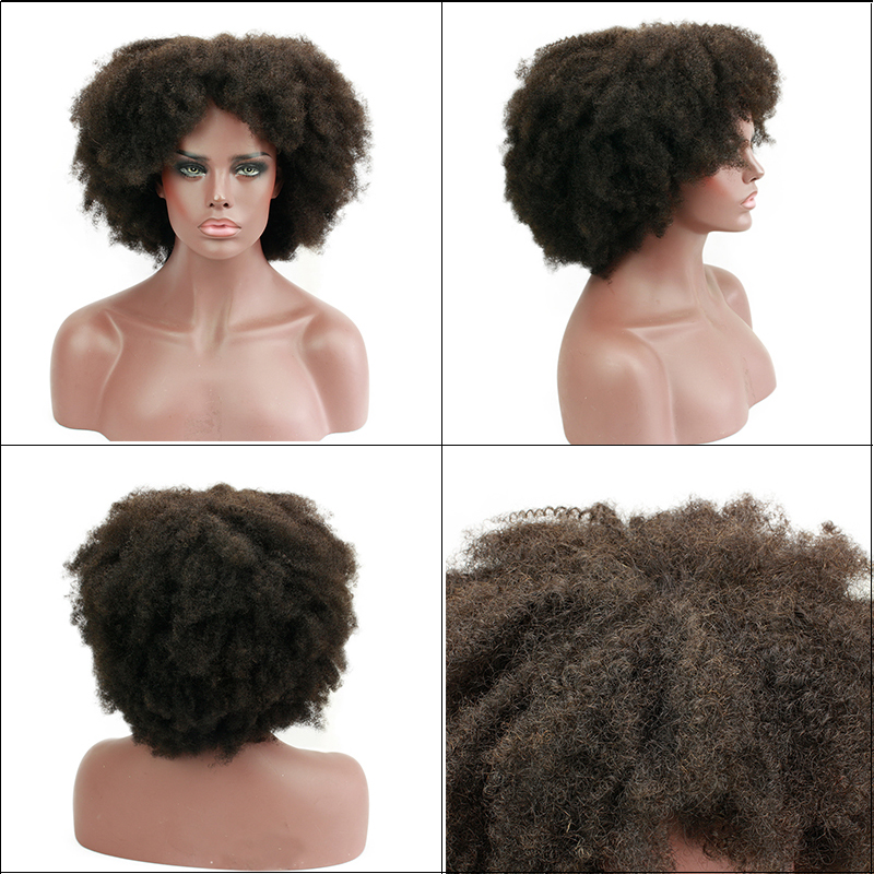 Eseewigs спиральные афро кудрявые кружевные передние парики 180% монгольские Remy человеческие волосы без клея кружевные передние парики черные ж... - 5