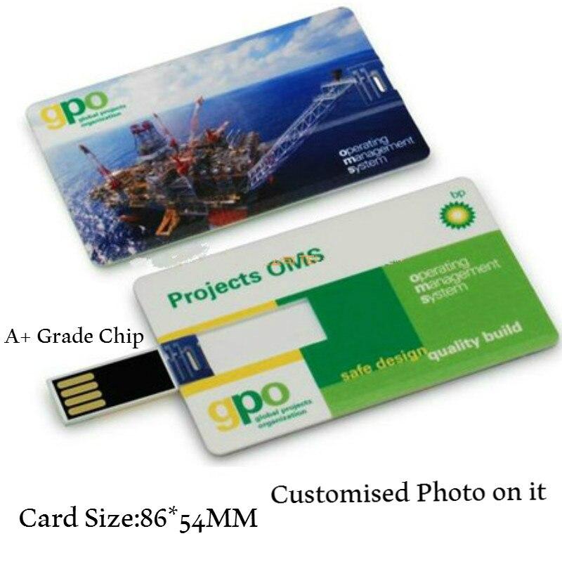 (15pcs Free logo) Custom Credit Card USB Flash Drive 8GB16GB 32GB Pen drive customized logo photo pendrive wedding business gift