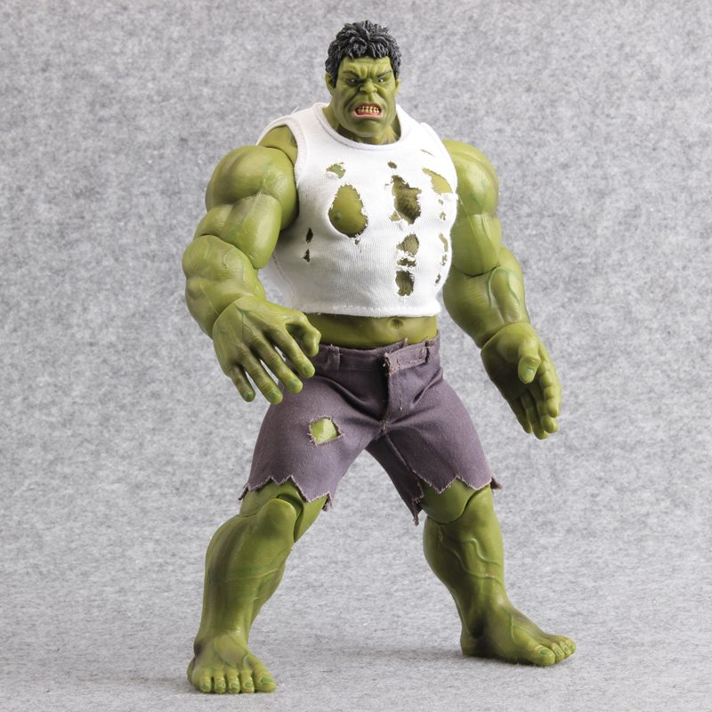The Avengers Hulk Action Figure 1/8 Scale PVC Action Figures Toys Real Clothes Ver. Hulk Collectible Model Dolls 26 CM