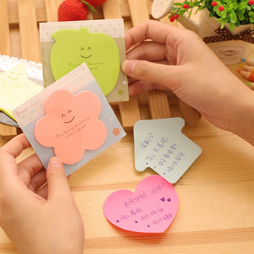 30 pcs/Lot Rainbow color post School sticker Kawaii sticky notes super note memo pad Office accessories Material escolar F460