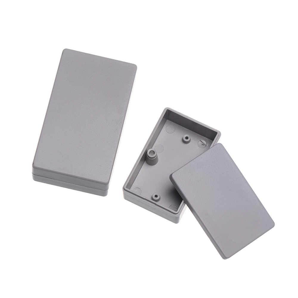 1 pieza de caja para proyecto electrónico de plástico 8 tamaños de plástico impermeable Blanco/gris carcasa DIY caja de instrumentos suministros eléctricos