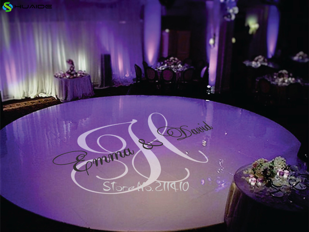 Personalized Name Wedding Floor Stickers Custom Made