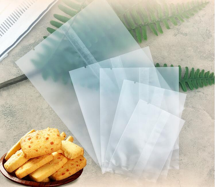 100x Bakery Biscuits Candy Lip Balm Gift Plastic Cellophane OPP Bag Blue S