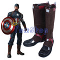 Botas Zapatos de Cuero Super Heroes vengadores Capitán América Cosplay Disfraces de Halloween Por Encargo
