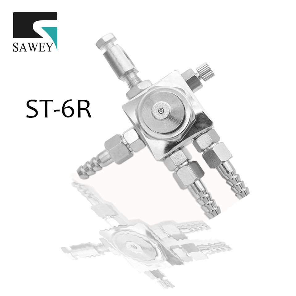 SAWEY ST-6R round type mini automatic air paint pneumatic spray gun,good as Japan brand,Free Shipping 0.5/1.0/1.3/2.0mm фотоаппарат sony cyber shot dsc rx10m2