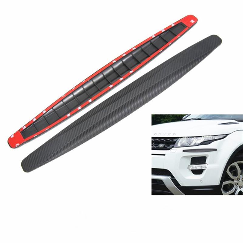 2X Carbon Fiber Front&Rear Bumper Protector Corner For Toyota Camry Highlander RAV4 Crown Reiz Corolla Vios Yaris L