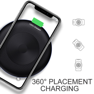 Image 2 - Suntaiho Qi Wireless Charger For iPhone X XR XS Max 10W Fast Wireless Charging for Samsung S10 S9 for Xiaomi mi9 USB Charger Pad