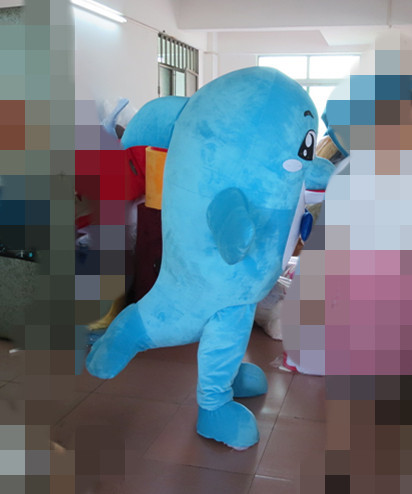 Hot sale Dolphin Mascot Costume Free Shipping