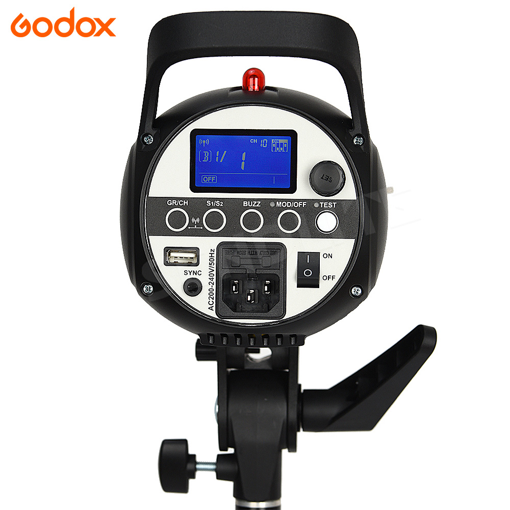 Godox Flash SK400II Professional Studio Flash SK Series 110V 220V Power Max 400W GN65 with Lamp For Canon nikon pentax sony fuji in Flashes from Consumer Electronics