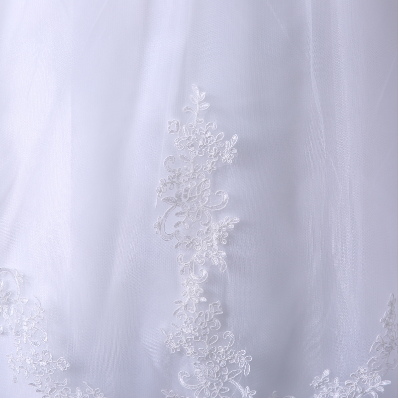VENSANAC 2017 Free Shipping New A Line Lace Sweetheart Short Sleeve White Satin Bridal Wedding Dress Wedding Gown 30217 9