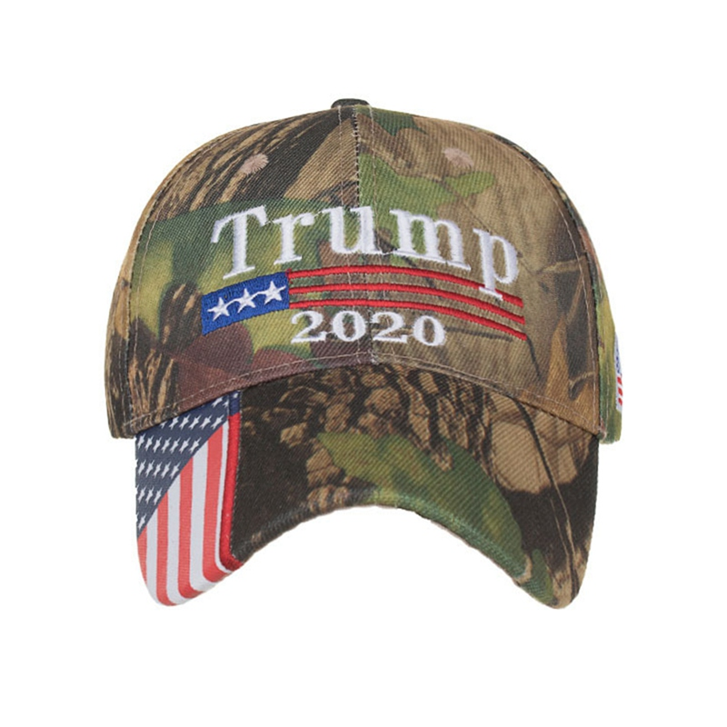 Snapback Hat Baseball-Caps Letter Embroidery Camouflage Keep-America USA Star Great Donald Trump title=