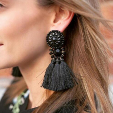 Ztech 2017 Brincos Women Brand Boho Drop Dangle Fringe Earring Vintage Ethnic Statement Tassel Earrings Fashion Jewelry
