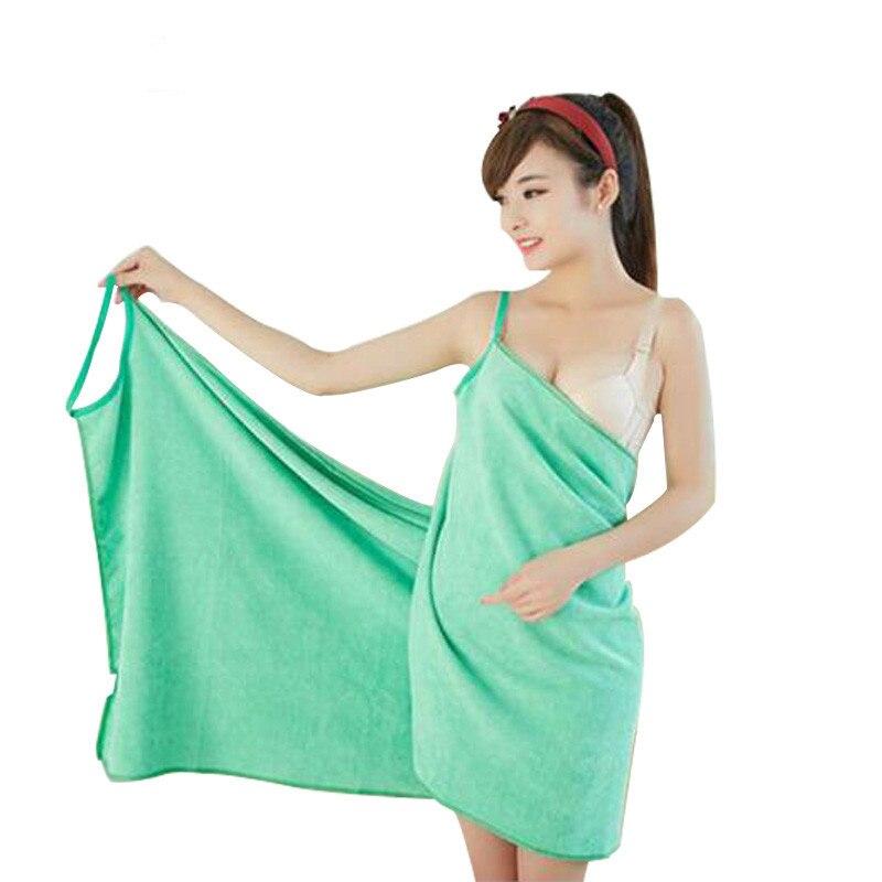 150x70 cm Sexy V Neck Women Bath Towel Soft Microfiber Towels Fabric Wearable Beach Towels Super Absorbent Bath Gown LST