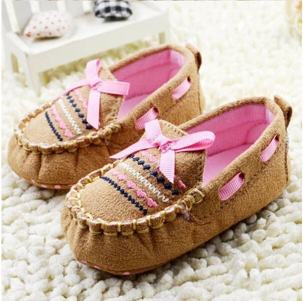 Baby Boy Clothes Breathable Moccasins Shoes Soft Bottom Non-slip Toddler Cute Shoes Khaki
