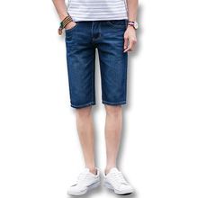 2016 New Men Denim Jeans Shorts Trousers Men's Casual Fashion Slim Fit Large Size Knee Length Summer Shorts Trousers Denim Male