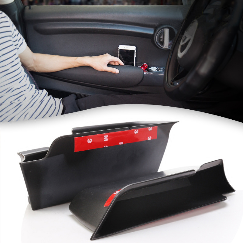 2PCS/set Car Inner Side Front Door Handle Armrests Storage Box ABS Tray Holder For Mini Cooper F55 F56 Car Styling Accessories new 2pcs for mini cooper accessories f54 f55 f56 carstyling door knob door handle shell covers decoration sticker union jack