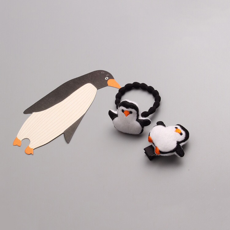 1 PCS  Newly Design Cartoon Penguin Hairpins Children Headdress Girls Hair Clips Headwear Baby Hair Accessories 1 pcs lovely cartoon swan temperament baby hairpins kids hair clips princess barrette children headwear girls hair accessories