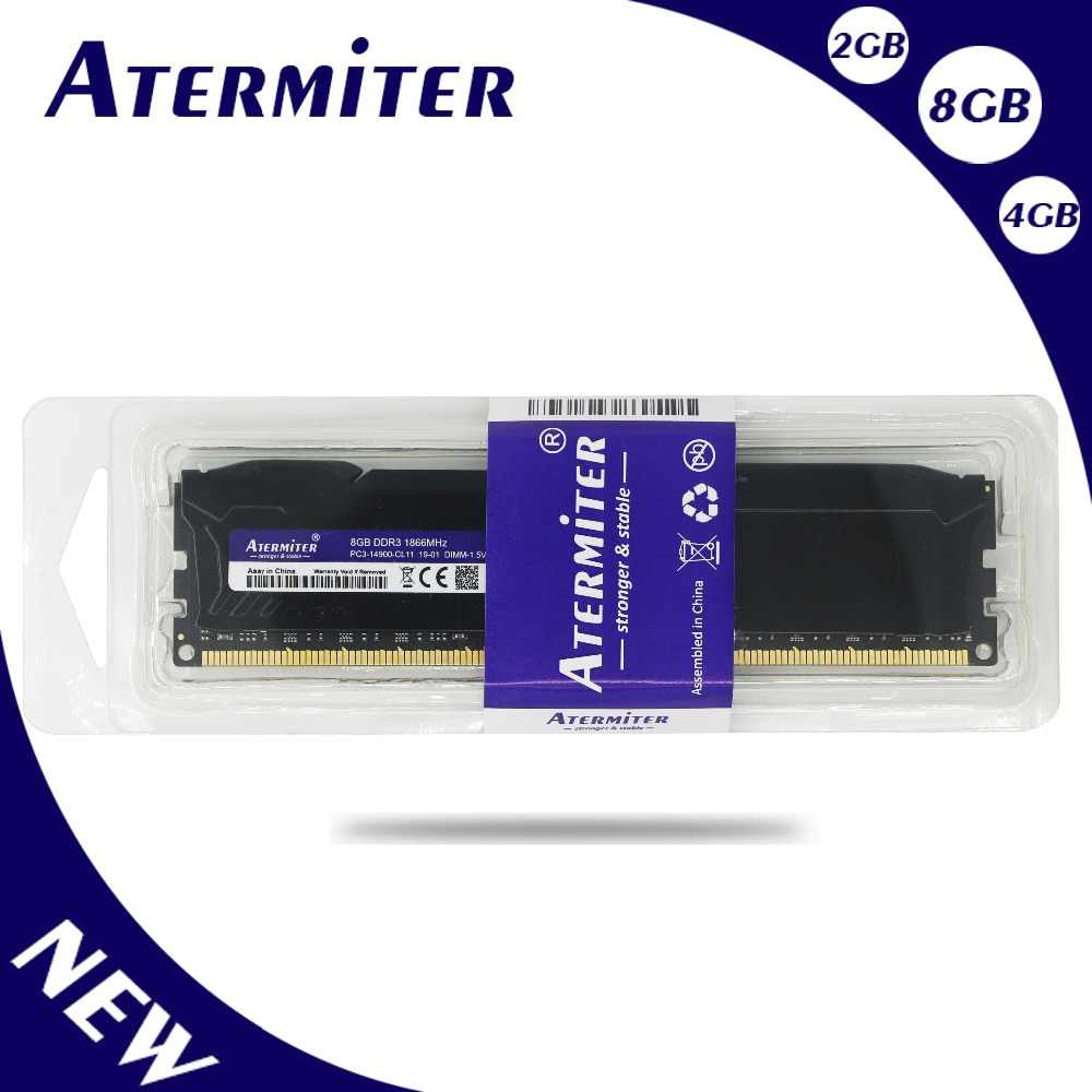 Nuovo 8GB DDR3 1600Mhz 1866Mhz 1333MHz radiatore del Desktop PC DIMM di Memoria RAM 240 pin (Per intel amd) 6gb 4gb 8g 1866 1600 1333
