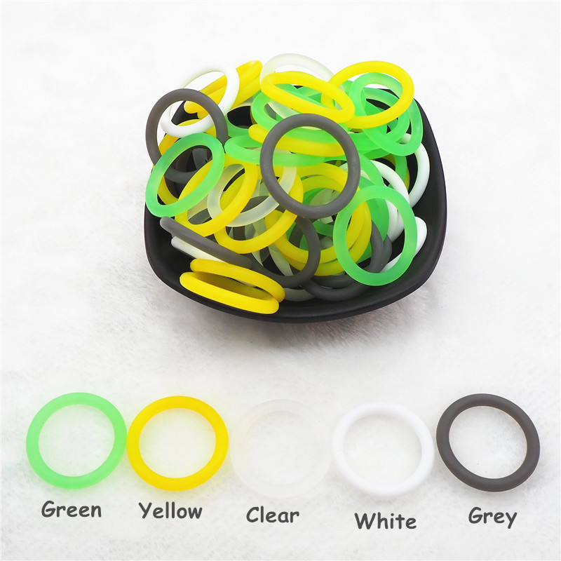Купить с кэшбэком Chenkai 100pcs BPA free Silicone Adapter O rings DIY Baby NUK MAM Pacifier Dummy Nursing Pendant Holder Chain Toy Accessories
