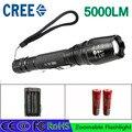 Z30 СВЕТОДИОДНЫЙ Фонарик Факел 5000 люмен CREE XML T6 масштабируемые светодиодный фонарик с 18650 аккумулятор зарядное устройство светодиодный фонарик алюминиевый