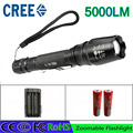 Z30 LED Flashlight Torch 5000 lumen CREE XML T6 zoomable led torch with 18650 battery charger aluminum led flashlight