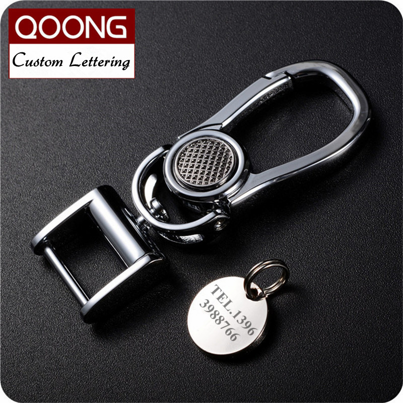 QOONG 2018 New High Grade Metal Car Keychain Chaveiro Detachable Key Chain Ring Holder For Men Waist Hanged Keyring Y63 zw waist hanged stainless steel keychain red copper max bearing 25kg