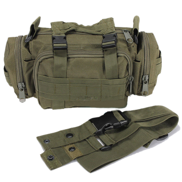 TEXU High Quality Waterproof Nylon Waist bag man Pouch military waist bag Bag - Green waist bag