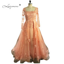Leeymon Long Sleeves Prom Dress 2019 Elegant A line
