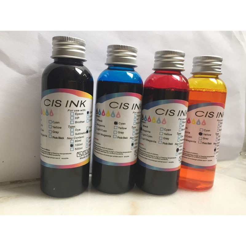 4 Color Food Ink Edible Ink For Canon Desktop Inkjet Printer For Cake DIY & Chocolate Edible ink BK C M Y ink way on promotion 4 1000ml universal edible ink for canon desktop inkjet printer bk c m y