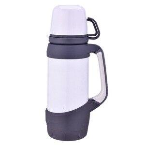 Image 5 - Keelorn garrafas térmicas de vácuo aço inoxidável 1.2l 1l tamanho grande viagem ao ar livre copo garrafa térmica copo térmica café