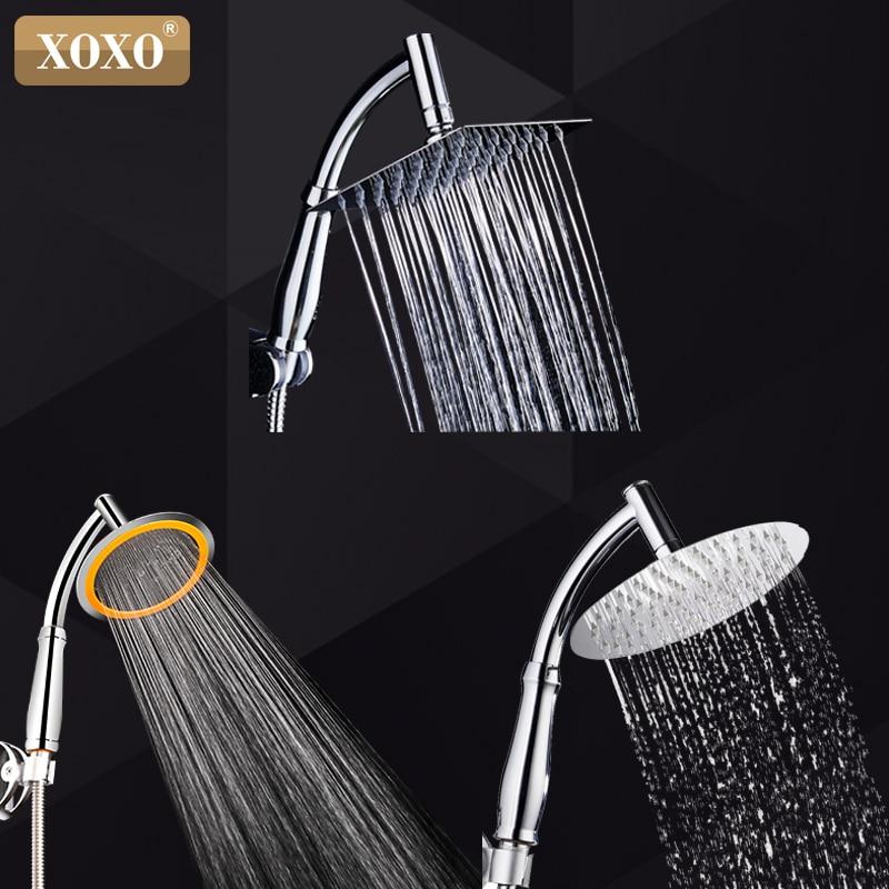 XOXO  Luxury Stainless Steel Ultra-Thin Large Rainfall Shower Head Bathroom Showerhead High Pressure Hand Held Shower Head X739