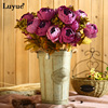 Luyue artificial flowers Wedding Vintage European Peony Wreath Silk Fake Flowers Heads Home Festival Decoration 13 Branches home 3