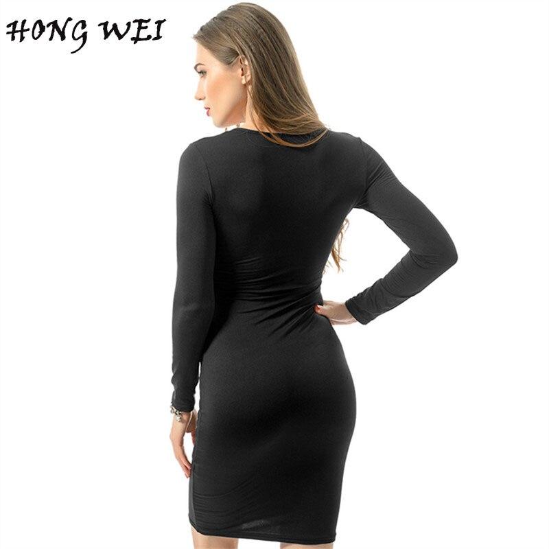 Hongwei Hot Sexy Bodycon Bandage Dress Plus Size 2017 Womens Autumn