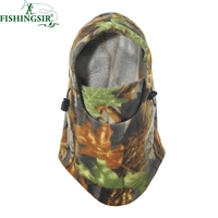 Warmest Fleece Camo Balaclava Skull Face Mask Militar Motorcycle Hat Cap Tools For Camping Cycling Fishing