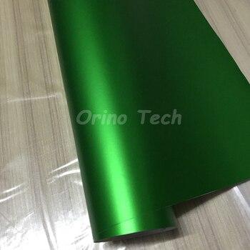 Super quality Green Chrome matte Sticker Metallic chrome vinyl wrapping film with air free bubbles ORINO CAR WRAPS