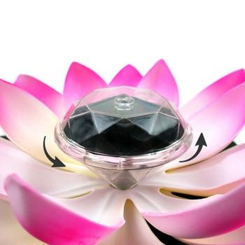 Solar Powered LED Lotus Flower Lamp  4