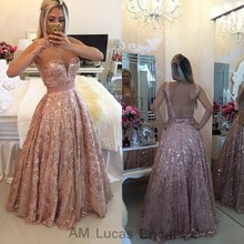 Sexy Long Evening font b Dress b font Sequin 2016 Backless Luxury Formal Party Prom Gowns
