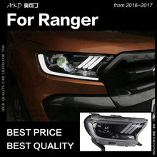 Akd Car Styling For Ford Ranger Headlight 2016 2017 Everest Led Head Lamp H7 D2h