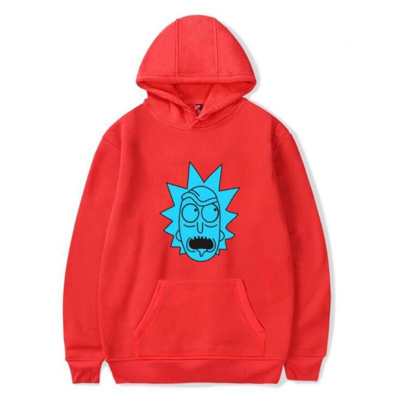 Hip Hop Hoodies Men Fashion Cool Rick and morty Hooded Sweatshirts Brand clothing Street Wear Winter Fleece Jacket Male Hoody