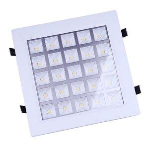 Darmowa wysyłka Ultra cienka konstrukcja AC85v-265v 25 W panel oświetleniowy LED oprawa wpuszczana W kratkę kraty sufitowe kanał