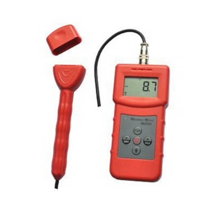 Multifunctional Inductive Moisture Meter For Wood, Timber, Paper, Bamboo, Carton, Concrete, Textile, leather Tester Range 0-99% mc 7806 wood moisture meter detector tester thermometer paper 50% wood to soil pin