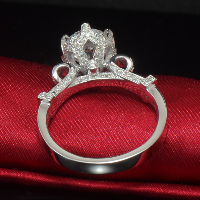 HIBRIDE Clear Crystal CZ Stone Women Wedding Ring White Gold-Color Prong  Setting Engagement Rings Female Jewelry R-176