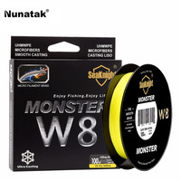 Seaknight 150 M Monster W8 Fishing Line Braided Pe Multifilament Line 8 Stands Soft Line Fabrics