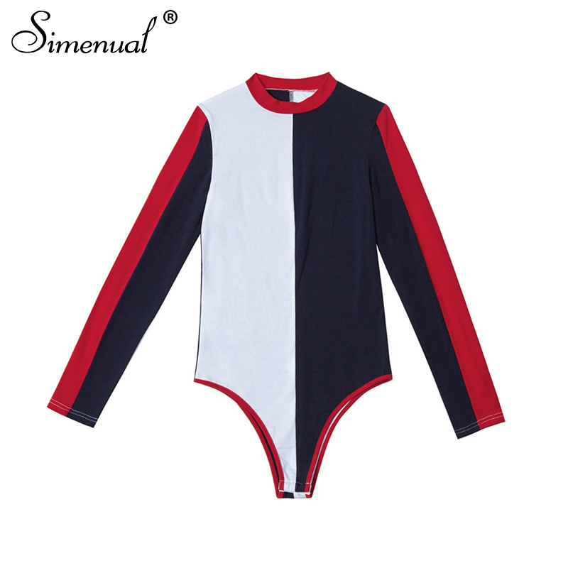 Autumn Patchwork Bodysuit, Women's Fashion Streetwear, Long Sleeve Sexy Bodysuit 14