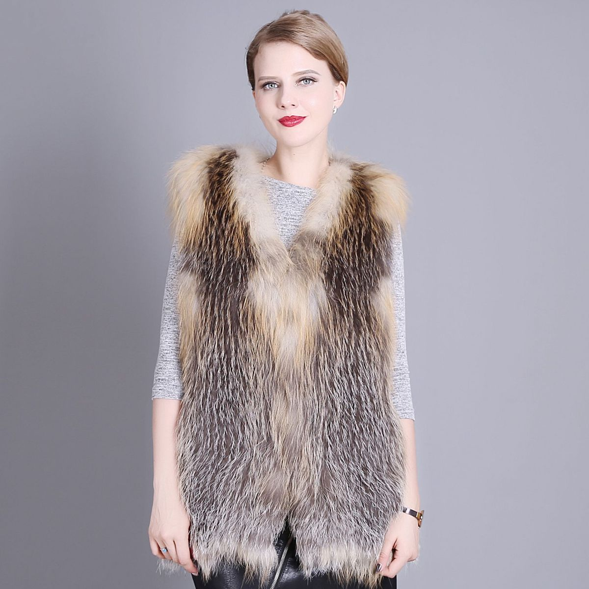 BF FUR New 2016 Genuine Fur Whole Skin Fox Fur Women Vest
