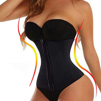 Hook And Zipper Rubber Latex Waist Trainer Sexy Waist Training Corsets Waist Cincher Corset Tops Body