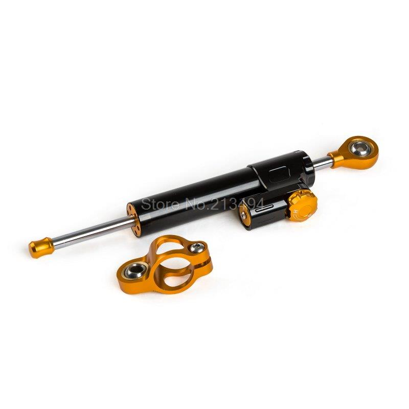 ФОТО Adjustable Steering Damper Stabilizer For BMW Ducati Triumph MV Augsta KTM Black CNC 6063-T6 Billet Aluminum