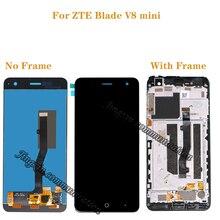 ل zte بليد V8 LCD صغير مجموعة المحولات الرقمية لشاشة تعمل بلمس ل zte V8mini BV0850 طقم تصليح العرض