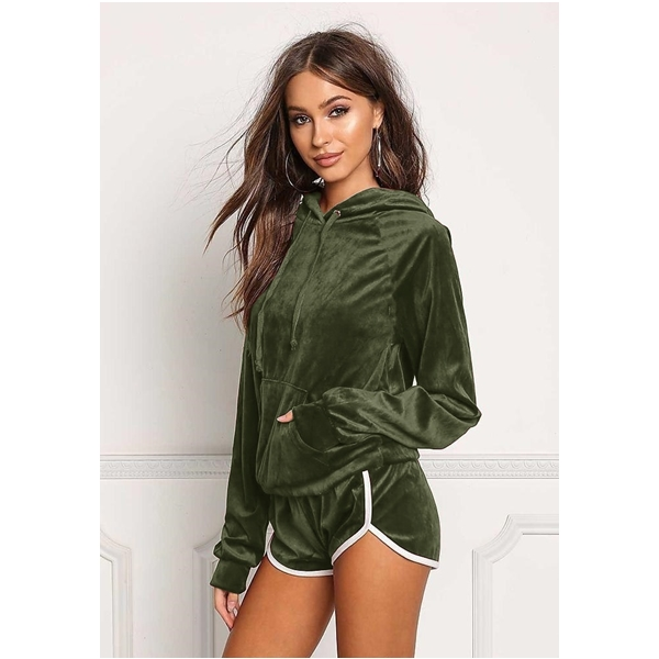 Image 4 - ZOGAA Hot Sale 2019 Summer Women Sets Cropped Long Sleeve Tops and Shorts Set 2 Pieces Women Tracksuits Casual T Shirts Shorts-in Women's Sets from Women's Clothing